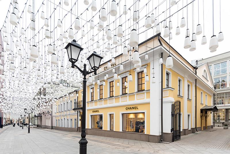Временный бутик Chanel в Столешниковом переулке