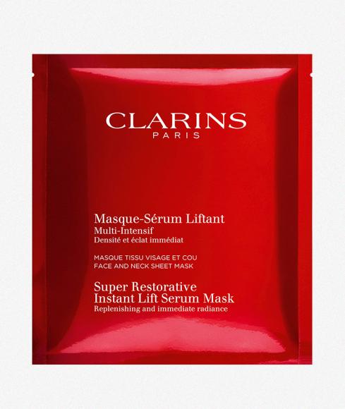 Восстанавливающая тканевая маска для лица и шеи с эффектом лифтинга «Multi-Intensive», Clarins