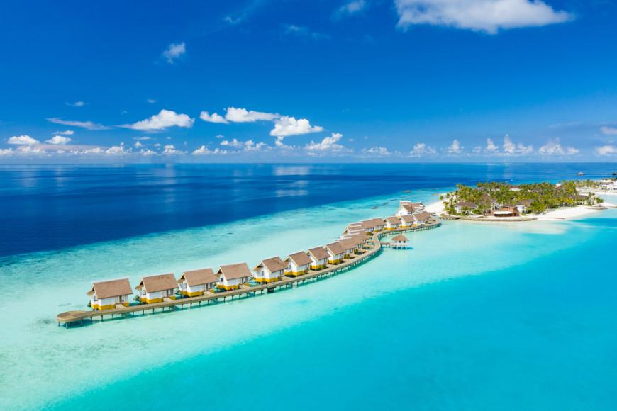 Виллы на воде отеля SAii Lagoon Maldives— Curio Collection by Hilton