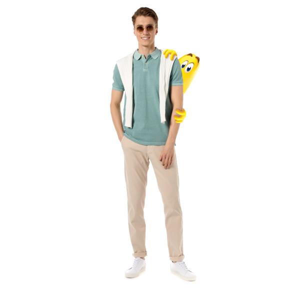 Хлопковое поло с коротким рукавом, брюки-слаксы из хлопка, Marc O'Polo