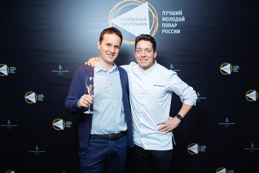Луиджи Маньи (Pinch) и Давид Эммерле (бренд-шеф Four Seasons Hotel Moscow)