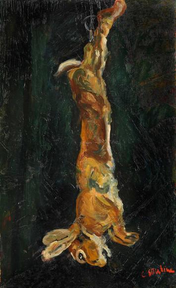 Хаим Сутин. «Подвешенный заяц», 1923