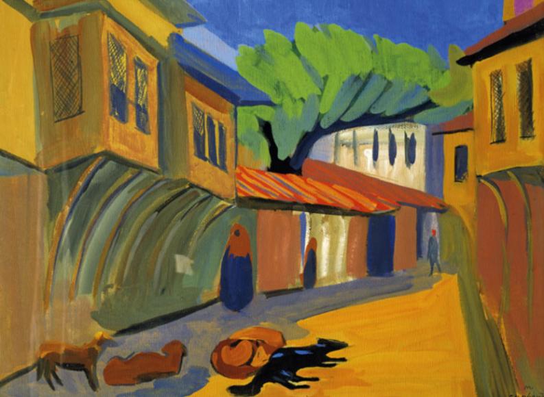 Мартирос Сарьян. Константинополь. Собаки, 1910