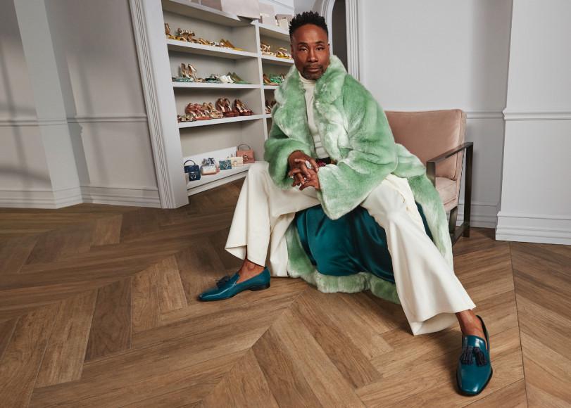 Билли Портер в обуви из своей совместной коллекции с Jimmy Choo