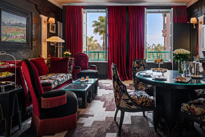 Suite Churchill в отеле La Mamounia в Марракеше