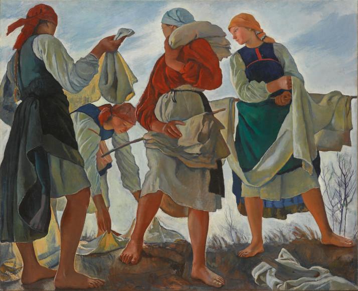 Зинаида Серебрякова. «Беление холста», 1917