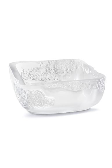 Блюдо для фруктов «Пионы», прозрачный хрусталь, диаметр 26см, 254 000 руб., Lalique