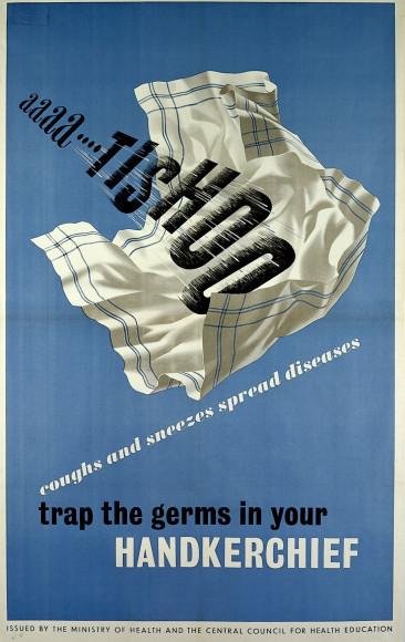 «Ааа... пчхи. Поймай микробов в носовой платок». Лондон, 1946 год