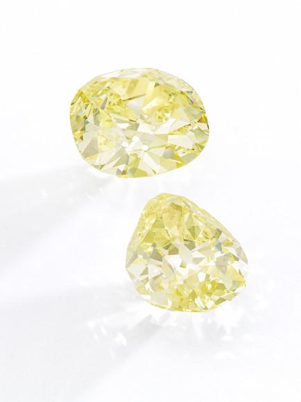 Пара желтых бриллиантов Donnersmarck, принадлежавшие Терезе Ла Пайве