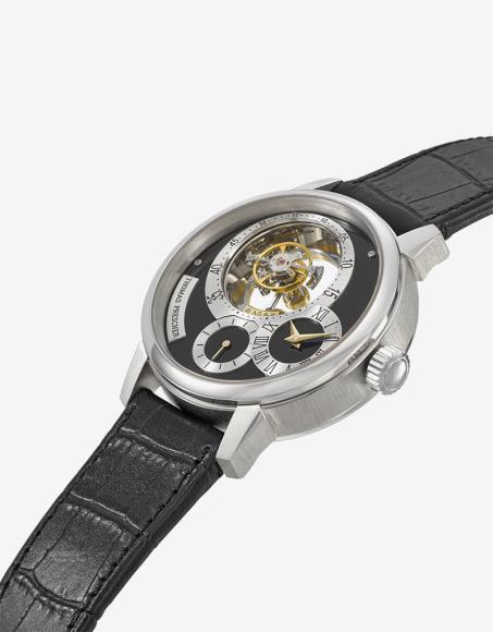 Часы с турбийоном, Thomas Prescher. Эстимейт 150–250 тысяч швейцарских франков, проданы за 175 тысячшвейцарских франков