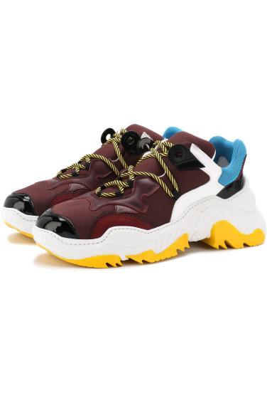 NO. 21 Текстильные кроссовки на шнуровке
