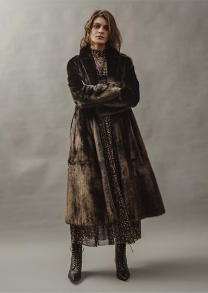 Меховое пальто Alexander Terekhov, 120 000 руб.