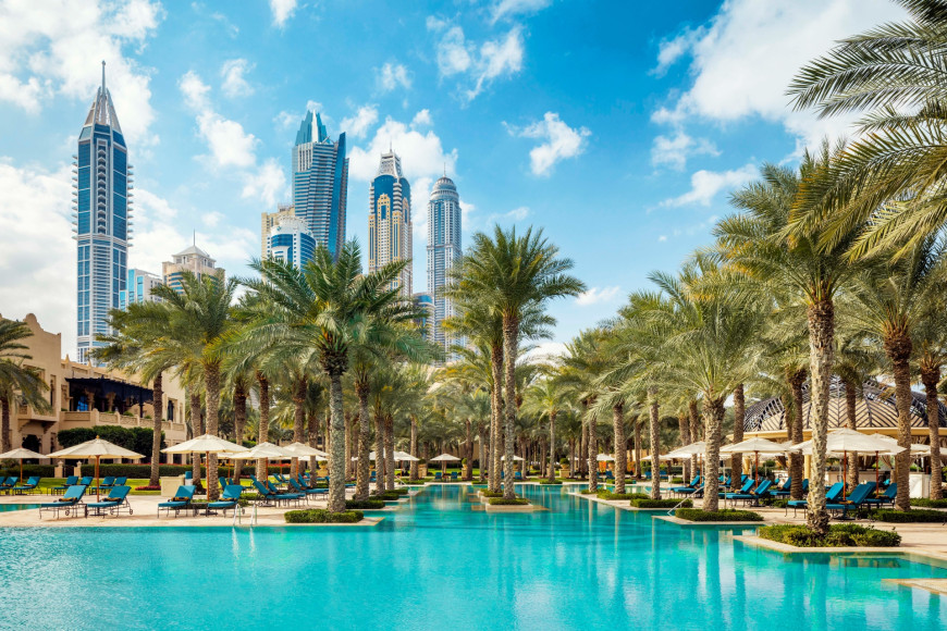 Бассейн в отеле ThePalace, One&Only Royal Mirage (Дубай)