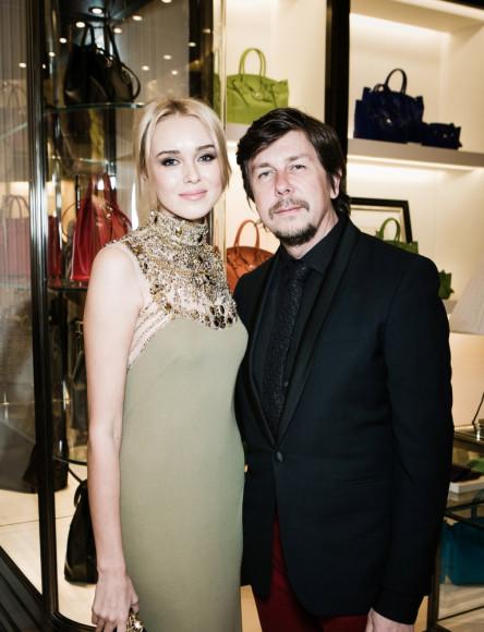 Ксения Сухинова (Мисс мира 2008)и Андрей Фомин (основатель event-агентства Andrey Fomin Production)