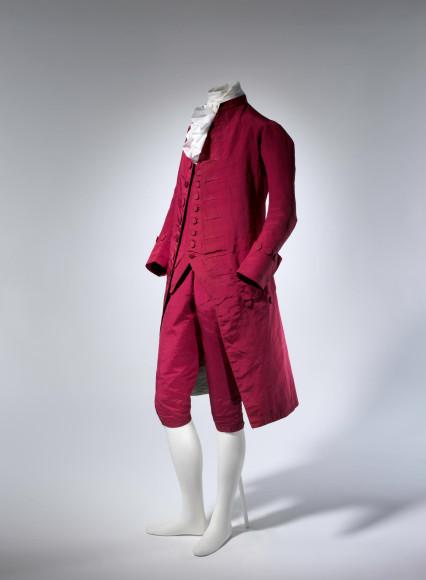 Костюм, предположительно из Великобритании,1770-80