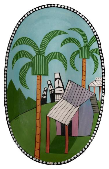 Керамическое изделие Town Ware (о. Пасхи), Кеннет Прайс, около 1977