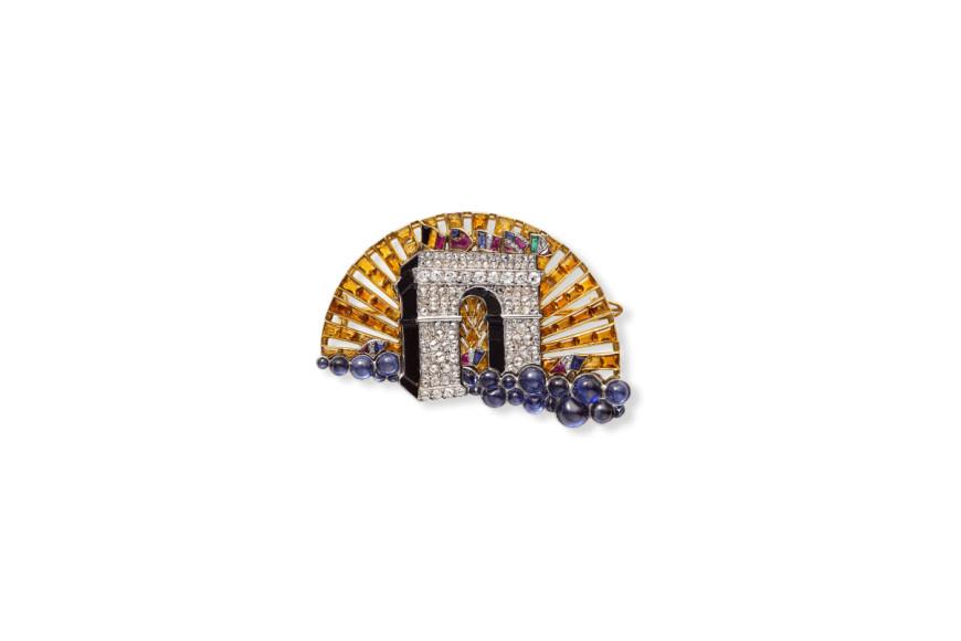 """Брошь """"Триумфальная арка"""",Cartier, Париж, 1919"""
