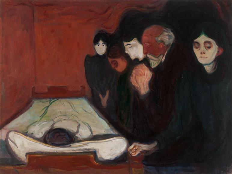 Эдвард Мунк. By the Deathbed, 1895