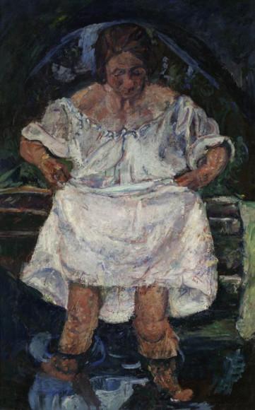 Хаим Сутин. «Женщина, входящая в воду», около 1931