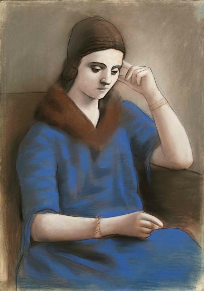 Пабло Пикассо. Задумчивая Ольга, Париж, 1923 Национальный музей Пикассо, Париж