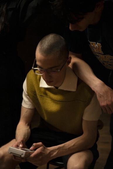 Рубашка Sandro, жилет A Personal Note 73, шорты 1017 ALYX 9SM
