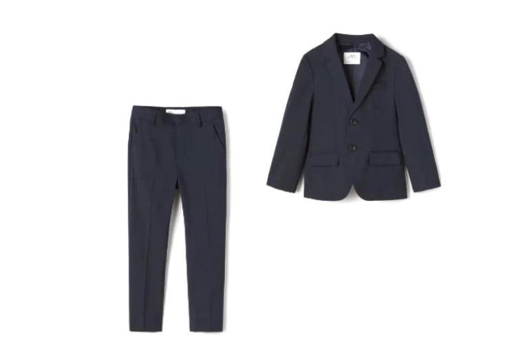 Пиджак (4299 руб.), брюки (2999 руб.)— все Zara Kids, (Zara)