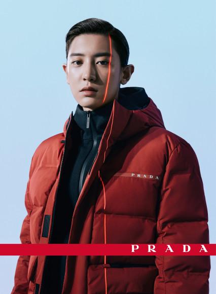 Участник EXO Пак Чанель в рекламной кампании коллекции Prada Linea Rossa сезона осень-зима 2020/21