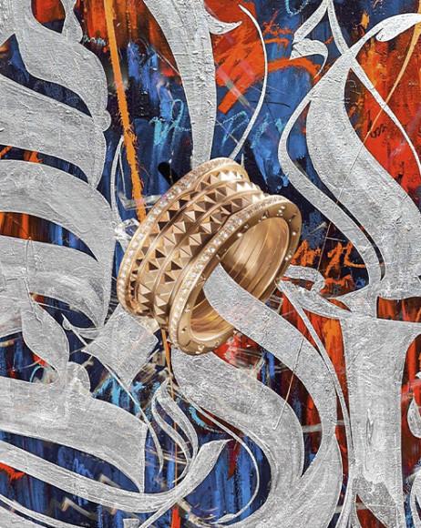 Коллаж Покраса Лампаса с кольцом Bvlgari