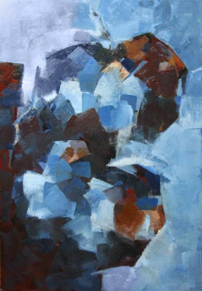 Картина Павла Слуцкого «Яблоки в голубом»
