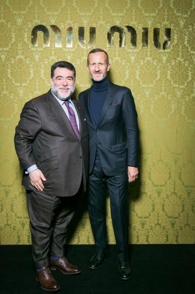 Михаил Куснирович и Stefano Cantino (Prada Group)