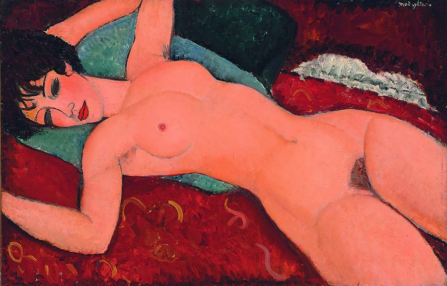 Амадео Модильяни. «Лежащая обнаженная», 1917-1918