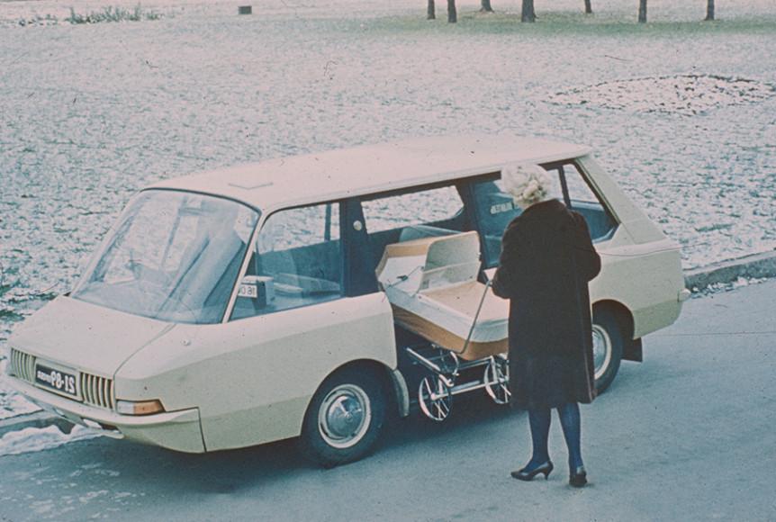 Экспериментальное советское такси / Перспективное такси (1964, художники-конструкторы Ю. Долматовский, А. Ольшанецкий, А. Черняев)
