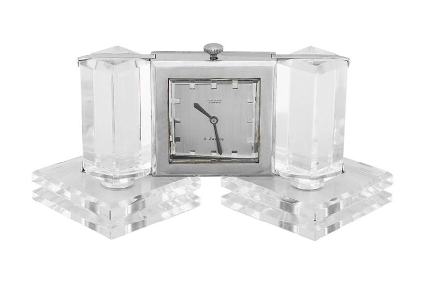 Настольные часы из горного хрусталя, 1934