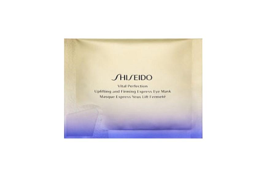 Лифтинг-маска моментального действия для кожи вокруг глаз Vital Perfection, Shiseido нейтрализует тусклый тон, темные круги и морщины благодаря технологиям TruStructiv и ReNeura Technology++, которые усиливают сенсорные сигналы внутри кожи, качество которых ухудшается с возрастом