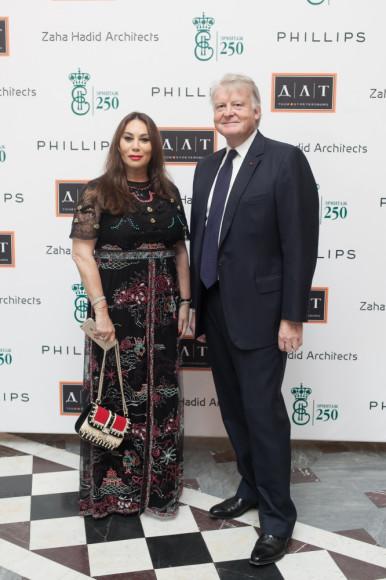 Алла Вербер и Эдвард Долман (председатель и исполнительный директор аукционного дома Phillips)