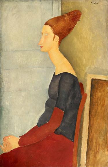 Амедео Модильяни. «Портрет Жанны Эбютерн», 1918