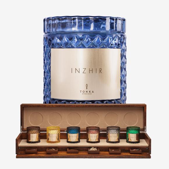 Парфюмированная свеча с нотами инжира, кедра и черной смородины Inzhir, Tonka. Цена: 4600 руб.