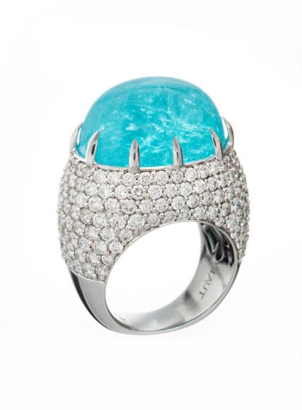 Кольцо с турмалином параиба, Alexander Laut