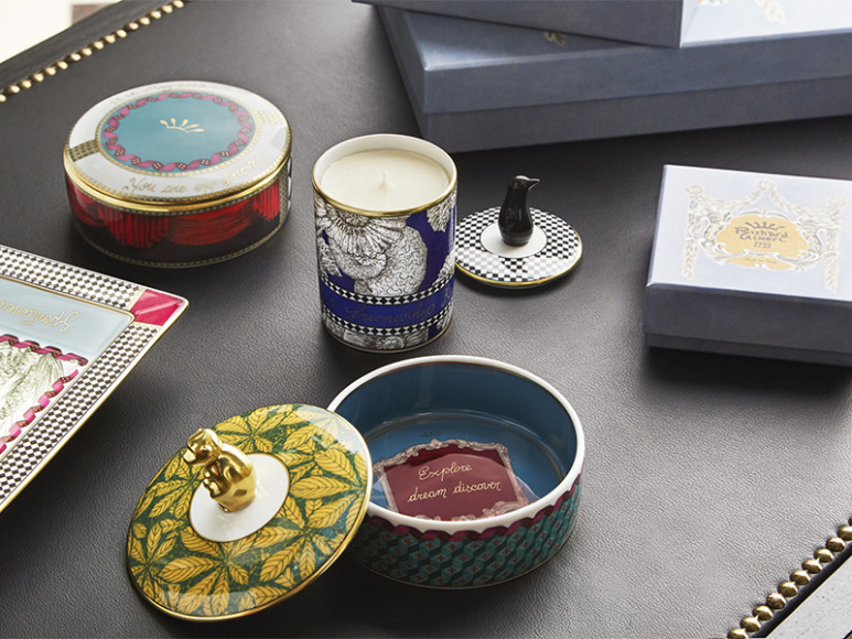 Шкатулки, свеча и тарелка Richard Ginori