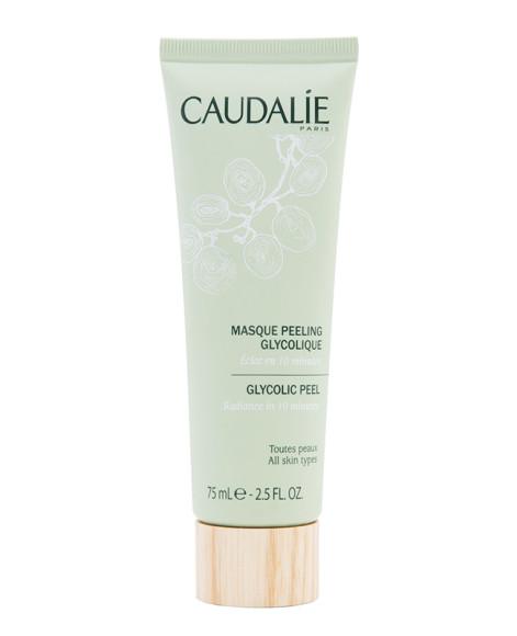 Гликолевая маска-пилинг Masque Peeling Glicolique, Caudalie, на 85,7% состоящая из натуральных ингредиентов, действует мягко, но эффективно:за десять минут отшелушивает омертвевшие клетки, делаякожу свежей и сияющей.