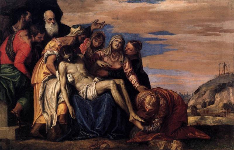 Паоло Кальяри, прозванный Веронезе (около 1528 – 1588. Снятие с креста. Снятие с креста. 1546–1549. Холст, масло. Верона, Музей Кастельвеккьо