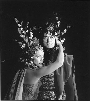 Аньес Варда. Мария Казарес и Жан Вилар. «Сон в летнюю ночь». Авиньон, 1959