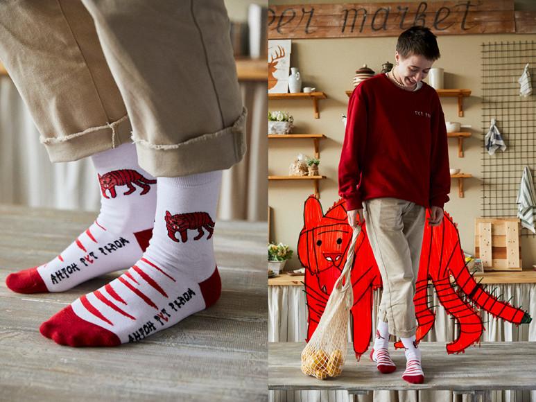 Носки St. Friday Socks с рисунками от студентов центра «Антон тут рядом»