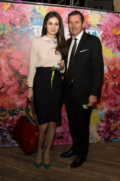 Генеральный директор Cartier Россия и Снг Бенуа Амио со спутницей