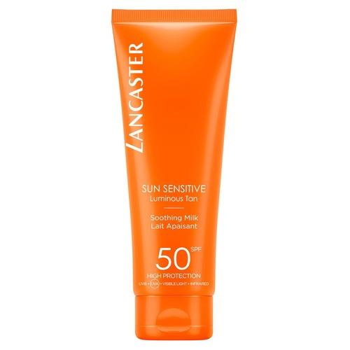 Нежное молочко для тела для чувствительной кожи SPF50, Sun Sensetive, Lancaster
