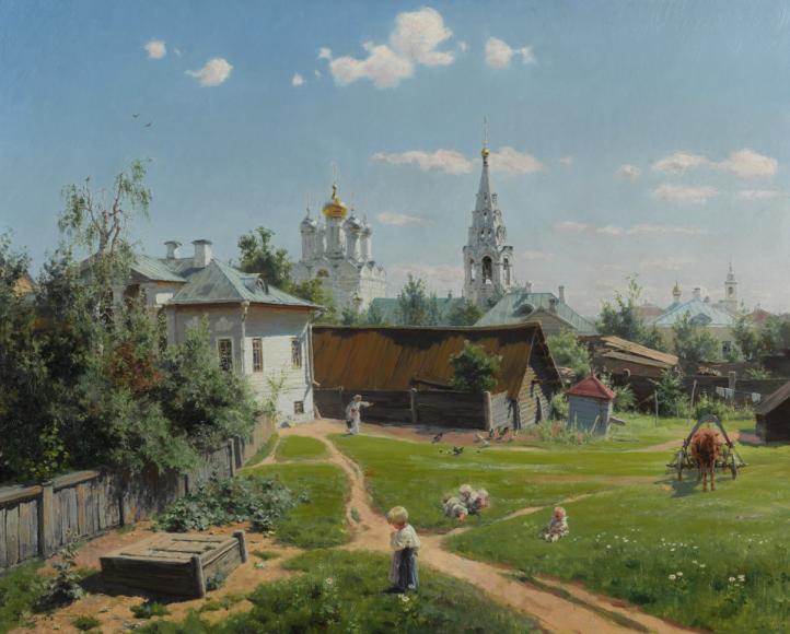 Василий Поленов,«Московский дворик». 1878 год