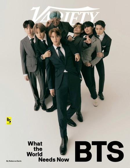 Группа BTS на обложке Variety, сентябрь 2020