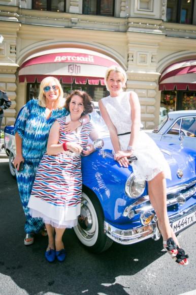 Телеведущая Оксана Пушкина, Ольга Юдкис (Bosco di Ciliegi) и Светлана Хоркина