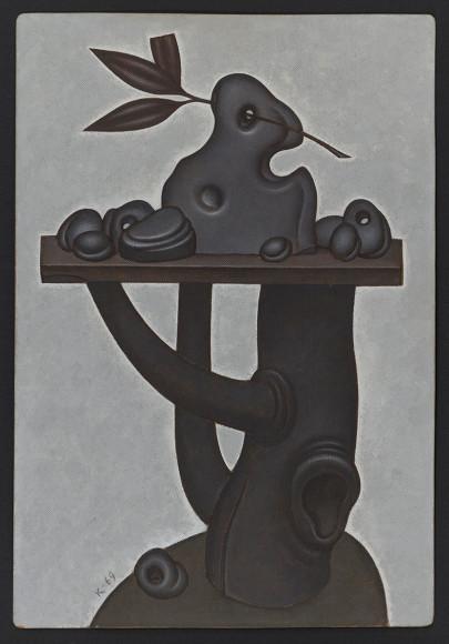 Дмитрий Краснопевцев. Куриный бог. Холст/масло, 1969 г.