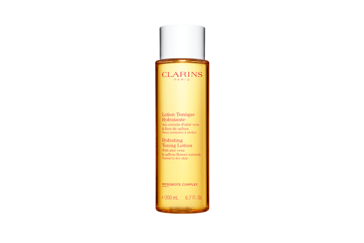 Лосьон Hydrating Toning Lotion, Clarins для нормальной и сухой кожи с экстрактами алоэ вера и инжира